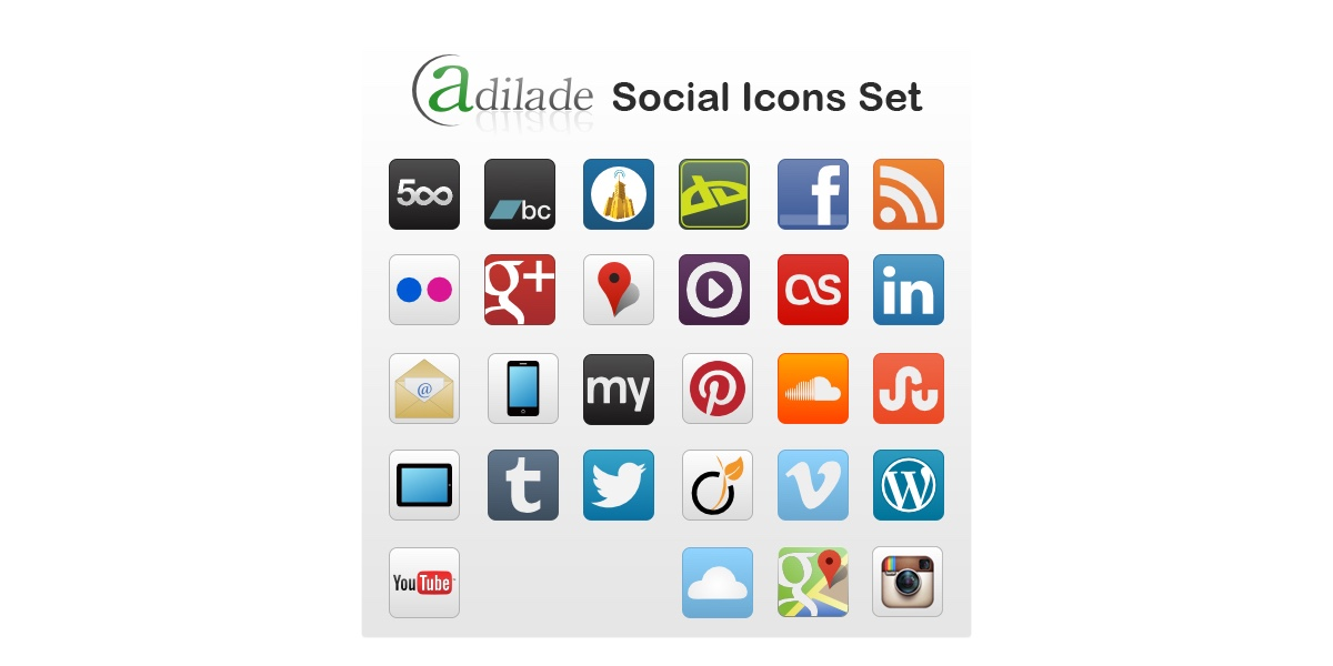 adilade-social-icons-set