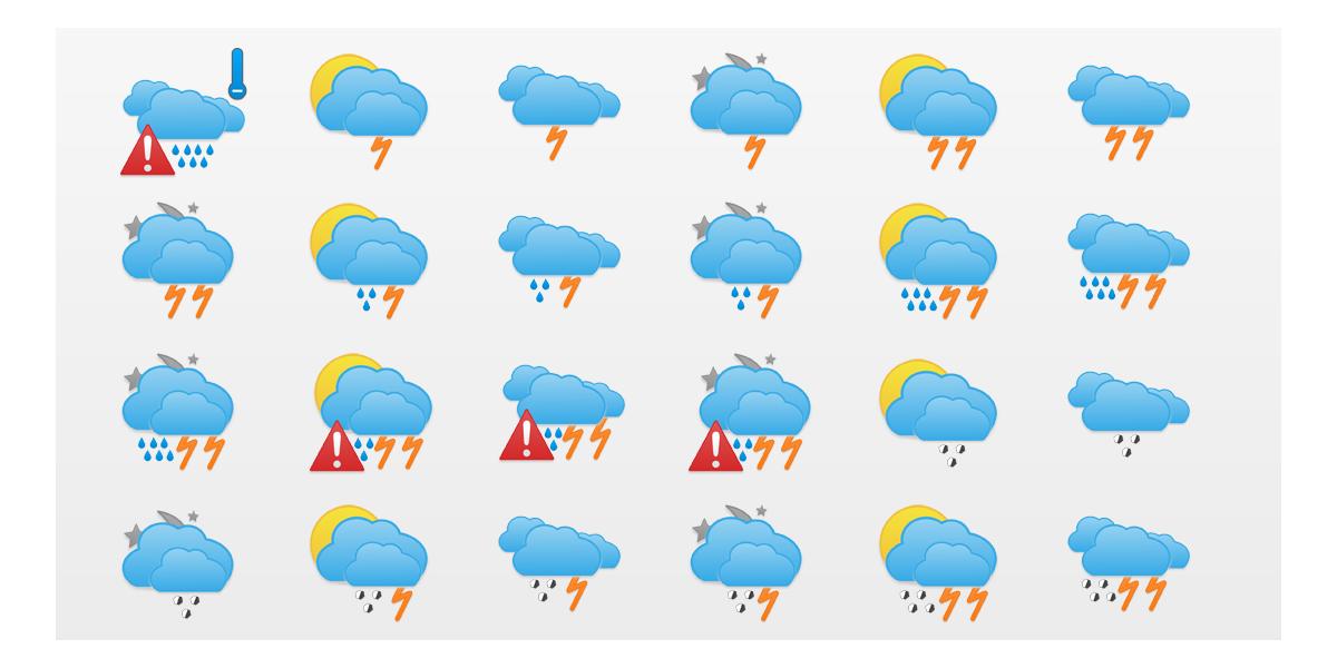 Icônes Météo : Adilade Weather Icons Set